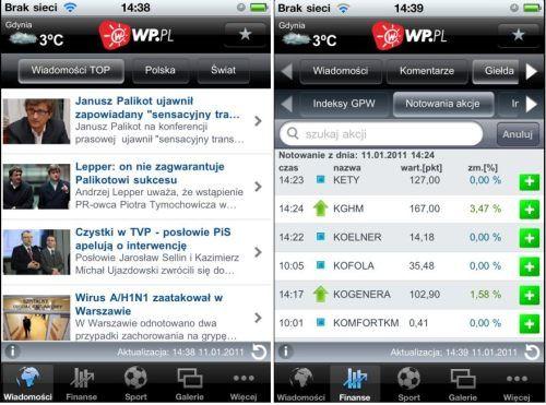 Wirtualna Polska z aplikacją na iPhone i iPod Touch
