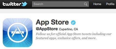 Oficjalne konto Apple Store na Twitterze