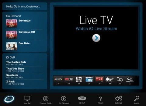 Telewizja na żywo w iPadzie od Cablevision