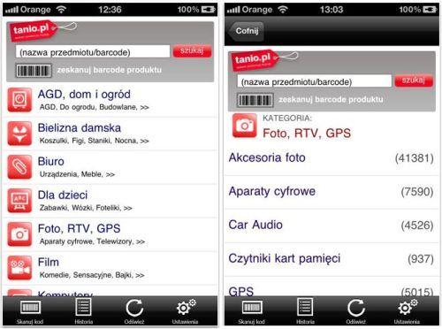 Tanio.pl jako aplikacja na iPhone