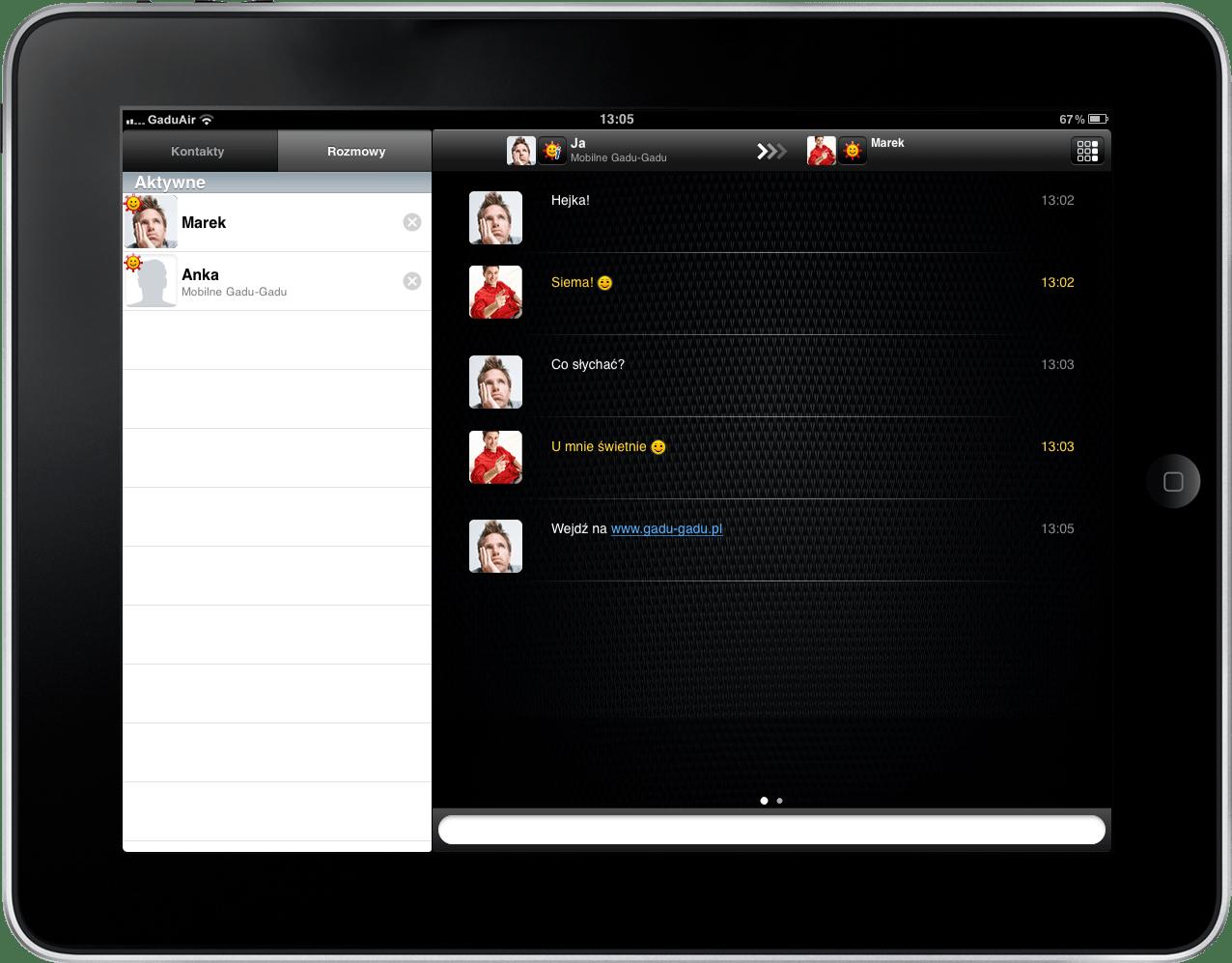 Gadu-Gadu teraz także na iPada