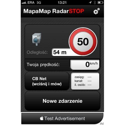 MapaMap RadarSTOP. Ostrzeżenie przed radarami dla iPhone