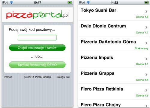 Zamów jedzenie przez aplikację na iPhone?a