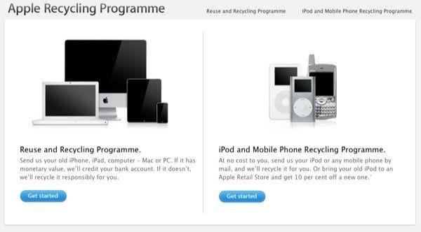 Działania recyklingowe Apple, rozszerzone na tereny Francji, Niemiec oraz Wielkiej Brytanii