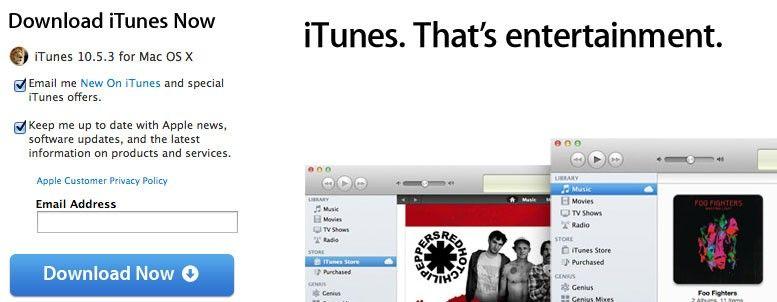 Apple publikuje nowe iTunes w wersji 10.5.3