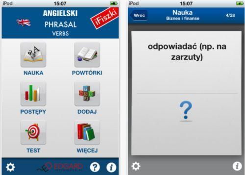 iFiszki Angielski Phrasal verbs do mobilnej nauki języka
