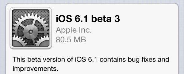 Kolejna beta iOS 6.1 dla developerów