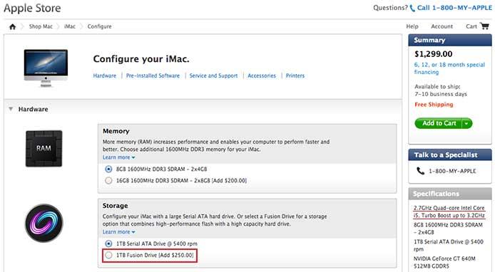Fusion Drive od Apple dostępny w nowych iMacach 21,5?