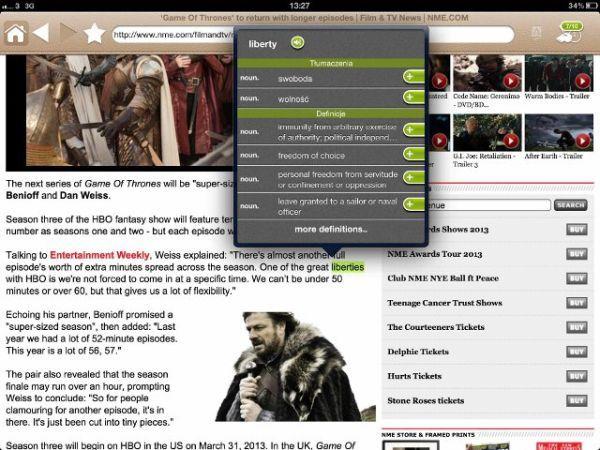 Lingoal HD ? nowa wersja przeglądarki do nauki angielskiego na iPada