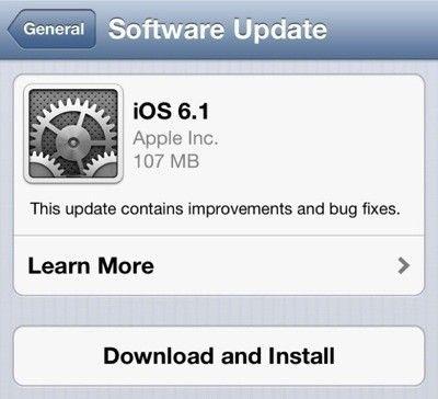 Niespełna dwa dni po premierze, iOS 6.1 znalazł się na 22% urządzeń objętych aktualizacją!