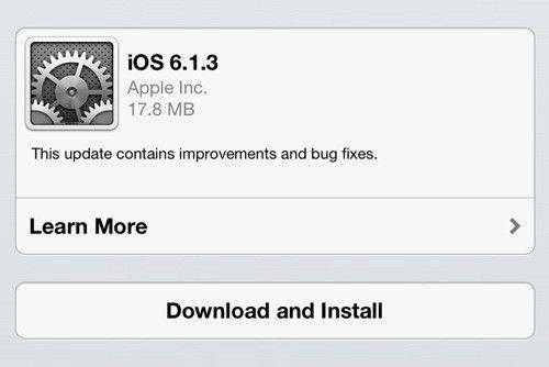 Apple wypuszcza aktualizację iOS do wersji 6.1.3!