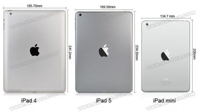 Wideo porównujące wielkośćiPada 5 do poprzednich modeli