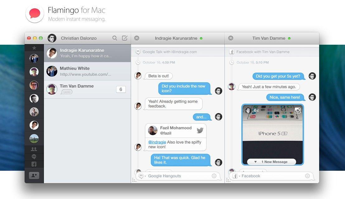 Flamingo – piękny klient dla usługi Facebook Chat