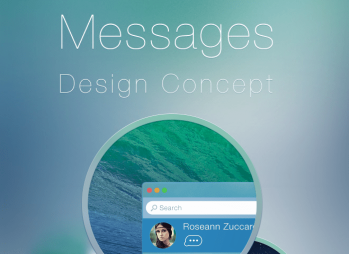 iMessage i ciekawy koncept