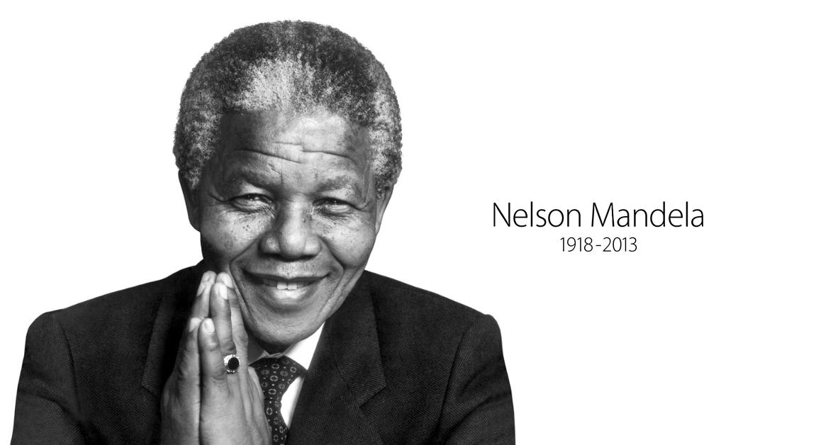Nelson Mandela i strona główna Apple