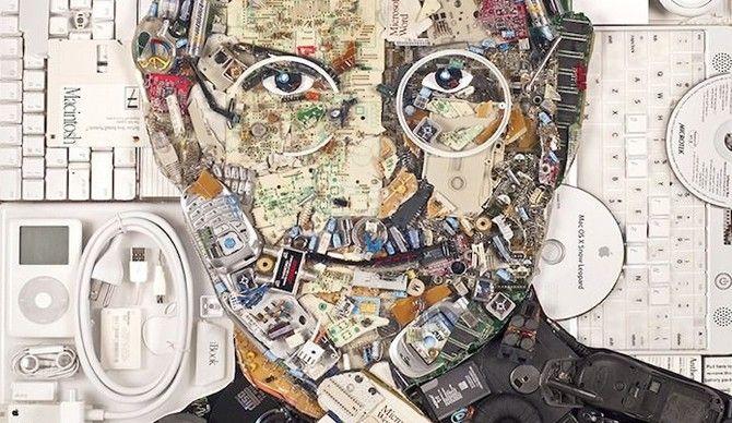 Niecodzienny portret Steve'a Jobs'a
