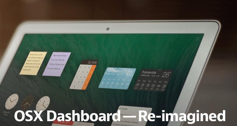 Koncept Dashboard w systemie OS X