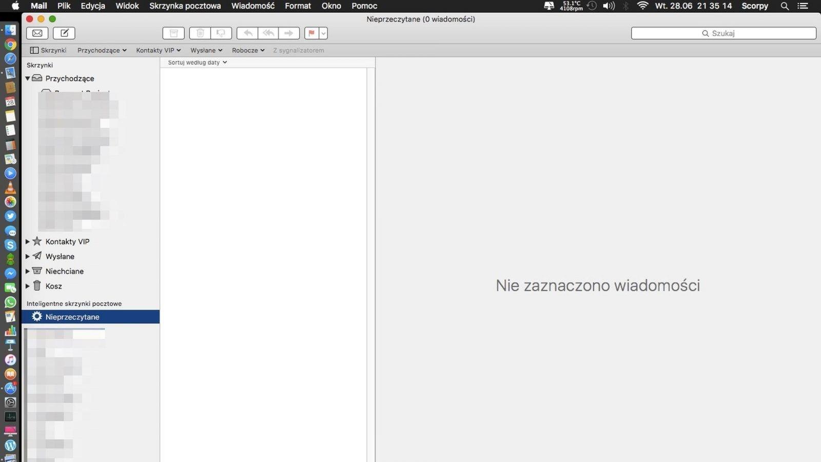 Jak zobaczyć tylko nieprzeczytane wiadomości w Mail na OS X?