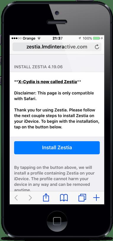 Jak zainstalować Zestia alternatywę dla Cydii na iOS?