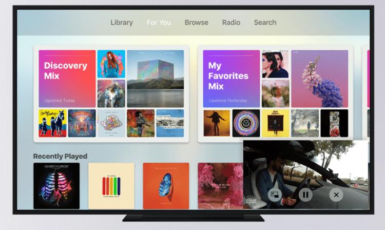 Funkcja kilku kont użytkowników w Apple TV