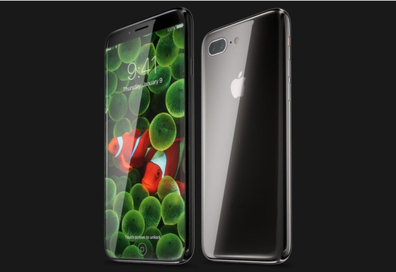 Koncept iPhone'a 8 autorstwa Martina Hajek'a
