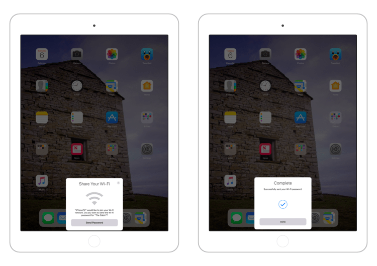 Udostępnianie hasła do sieci WiFi w iOS 11