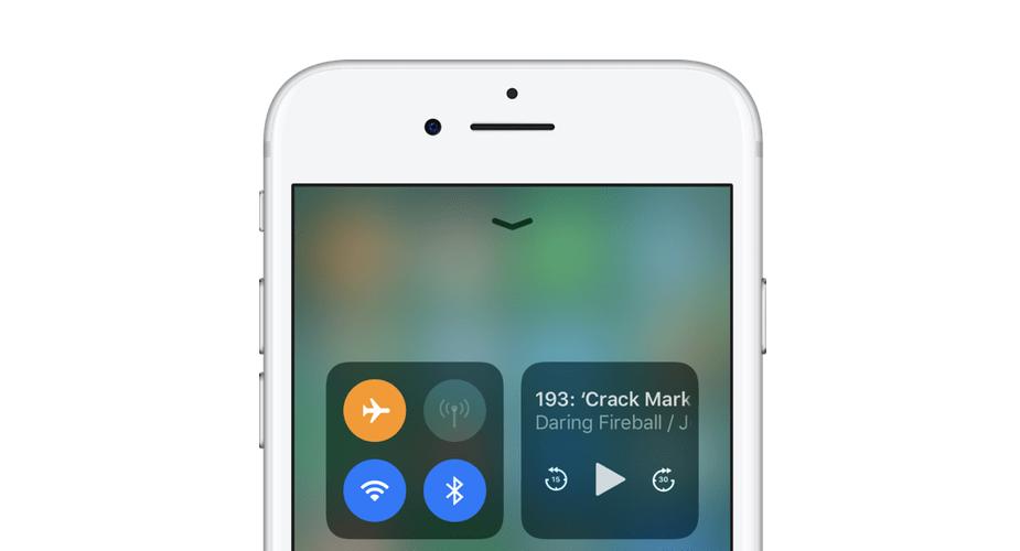 Inne działanie trybu samolotowego w iOS 11