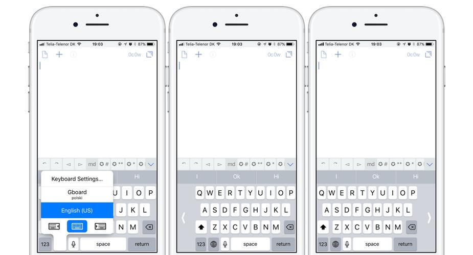 iOS 11 i tryb pisania jedną ręką