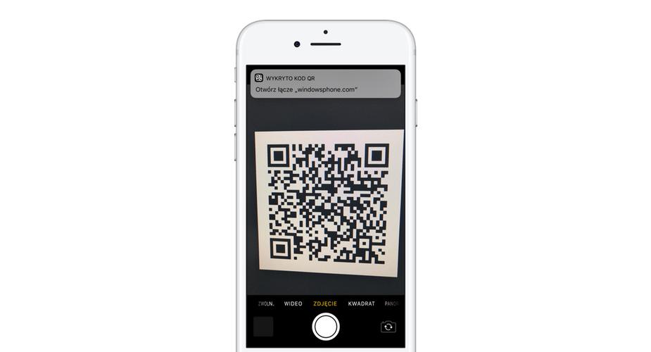 iOS 11 ze wsparcie dla kodów QR