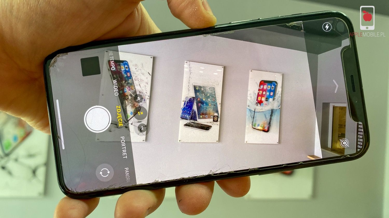 Naprawianie telefonu iPhone 11 Pro ze zbitą szybką aparatu w serwisie Apple