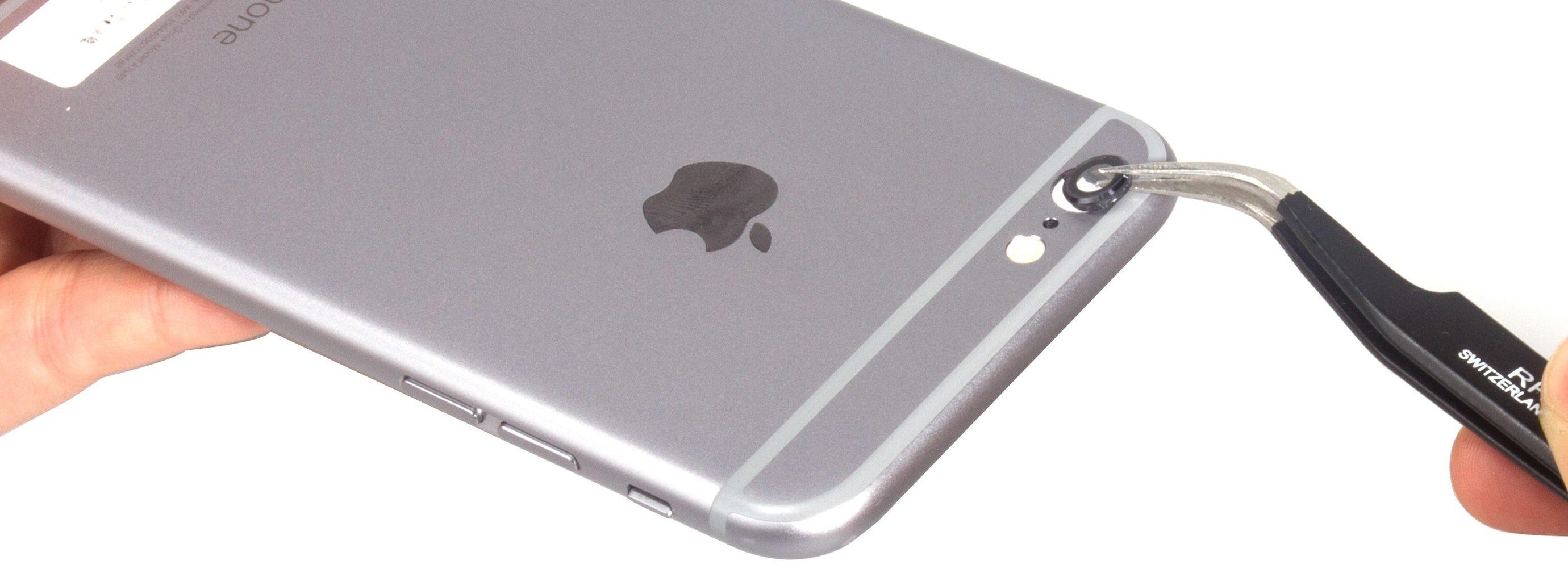 iPhone 6S z uszkodzonym aparatem fotograficznym
