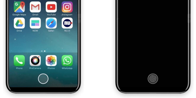 Koncept przycisku Home w iPhone 8