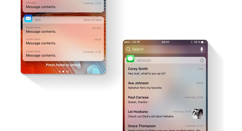 Ciekawy koncept powiadomień w systemie iOS