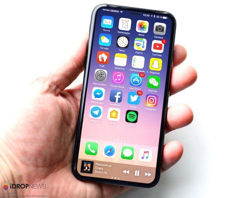 Zdjęcia komponentów iPhone'a 8