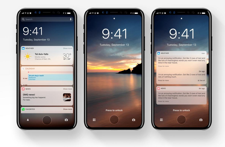 Koncept systemu iOS 12