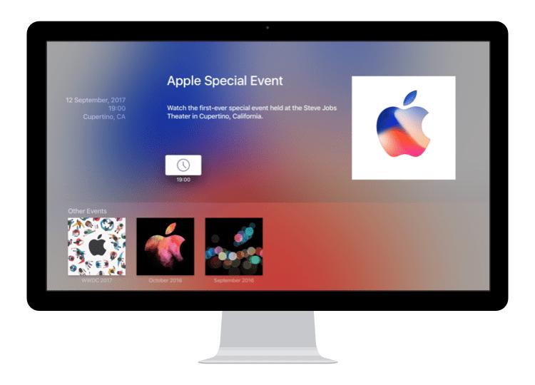 Aplikacja Apple Events dla Apple TV zaktualizowana
