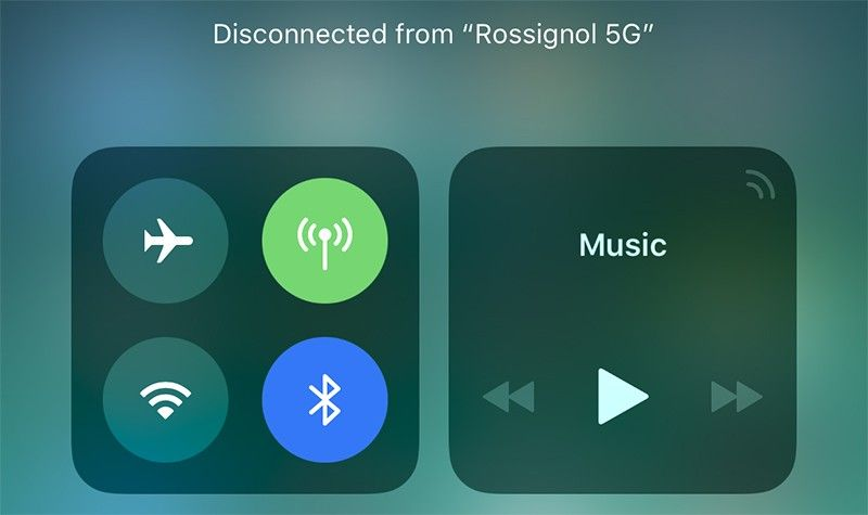 Centrum Sterowania w iOS 11, a funkcje Bluetooth oraz WiFi