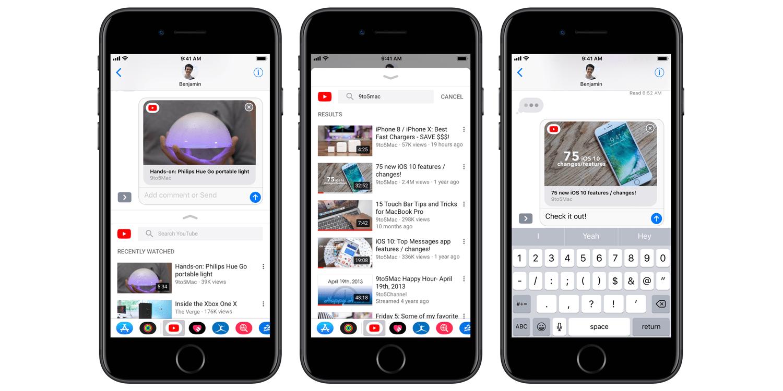 YouTube dla iOS ze wsparciem dla iMessage