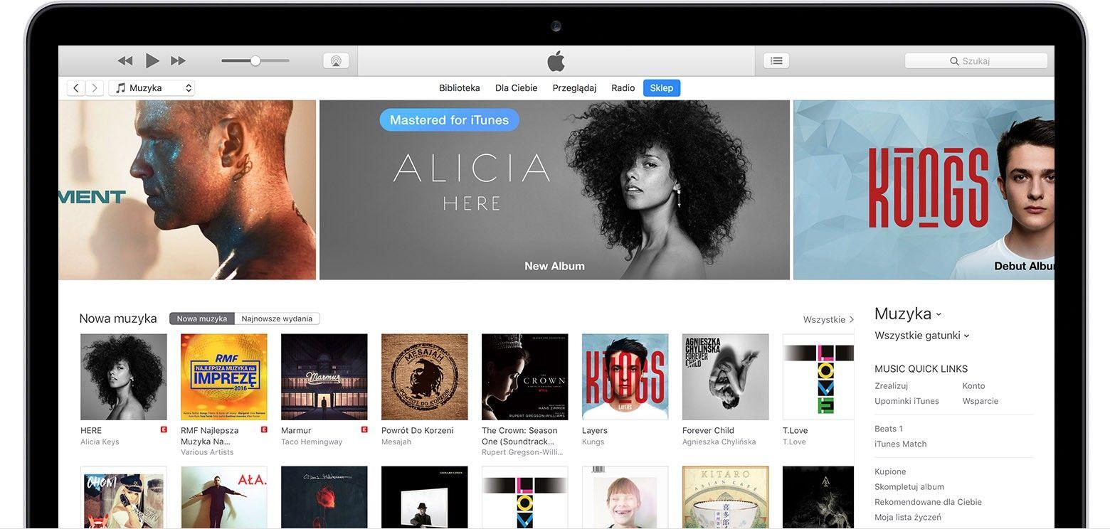 iTunes w wersji z App Store dostępne na stronie Apple