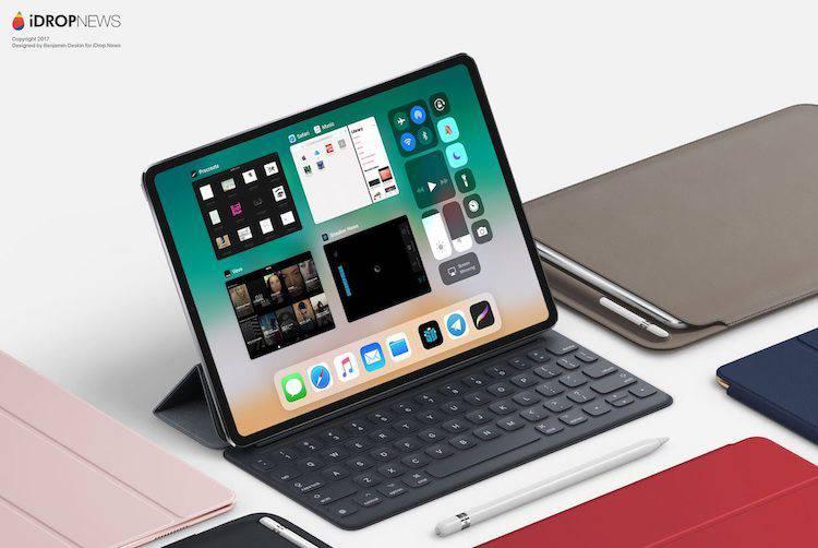 iPad Pro z Face ID – koncept urządzenia