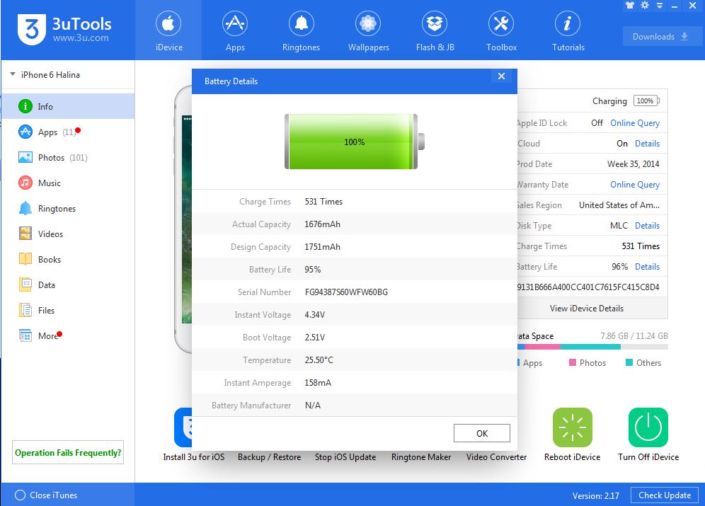 Jak sprawdzić ilość cykli i stan baterii w iPhone na Windows bez Jailbreak?