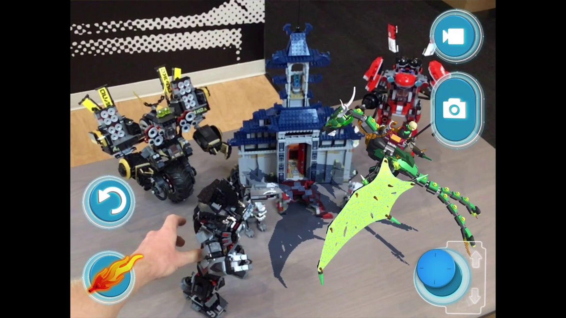 Firma LEGO pokazuję klocki w rozszerzonej rzeczywistości