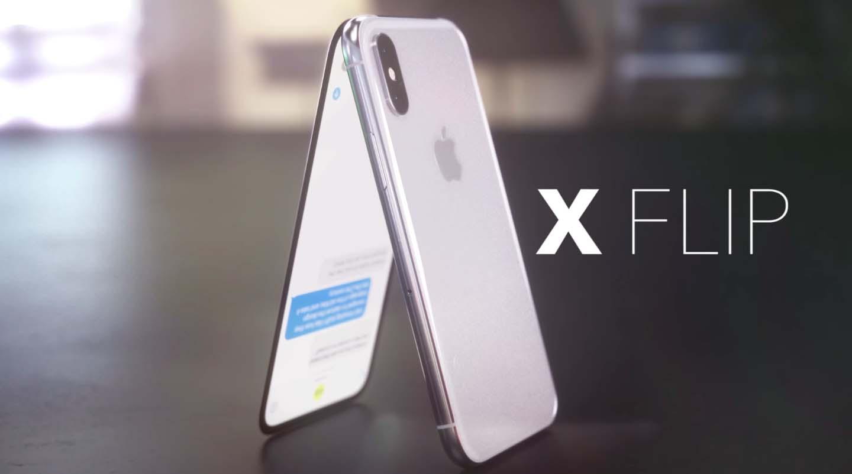 iPhone X Flip koncept urządzenia