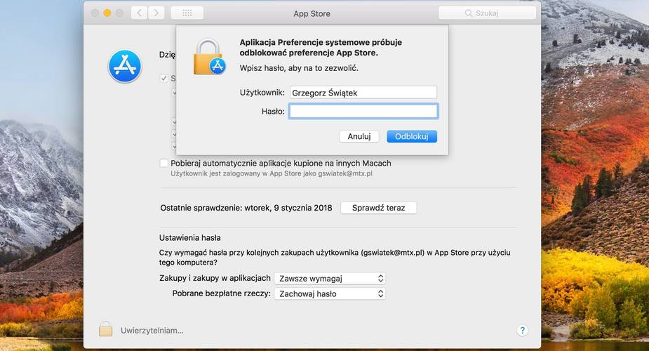 Kolejny błąd w systemie macOS High Sierra