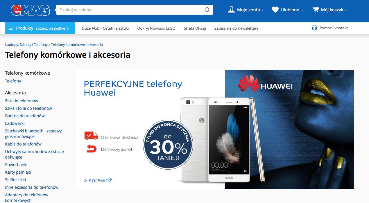 Gdzie kupić nowy telefon w atrakcyjnej cenie? W www.emag.pl