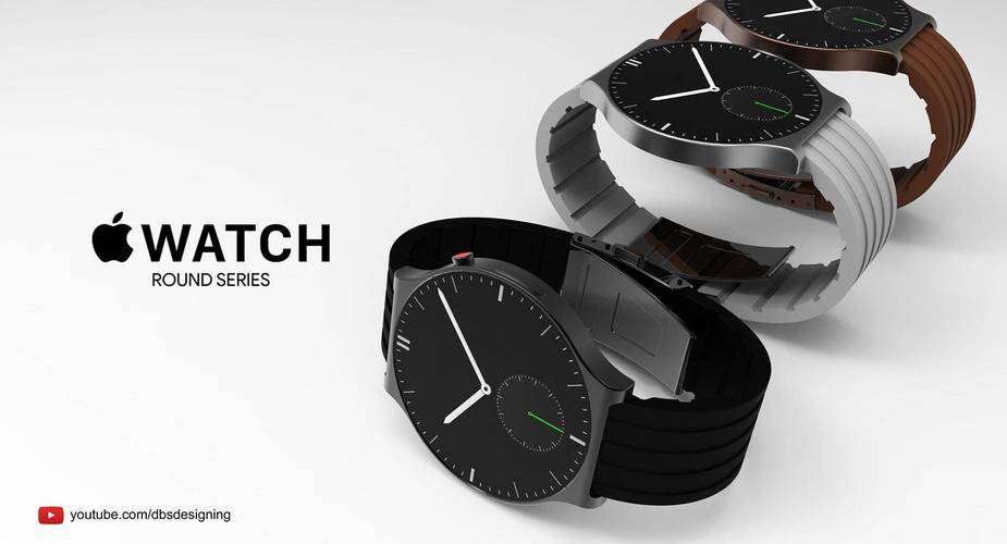 Koncept okrągłego Apple Watch'a