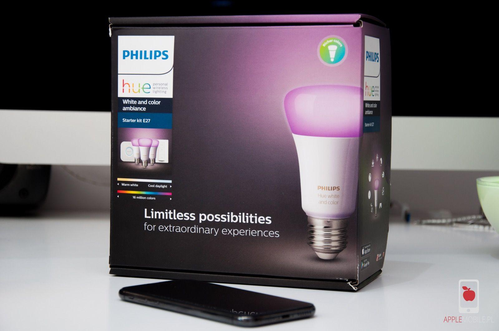 Recenzja oświetlenia Philips Hue Starter Kit E27 sterowanego z iPhone
