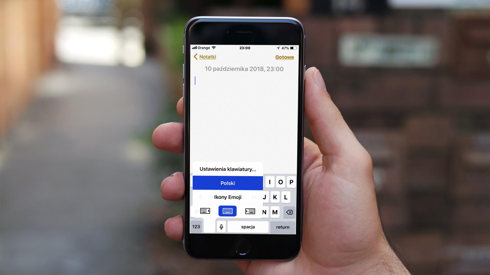 Jak włączyć funkcję klawiatura jednoręczna na większym iPhonie?
