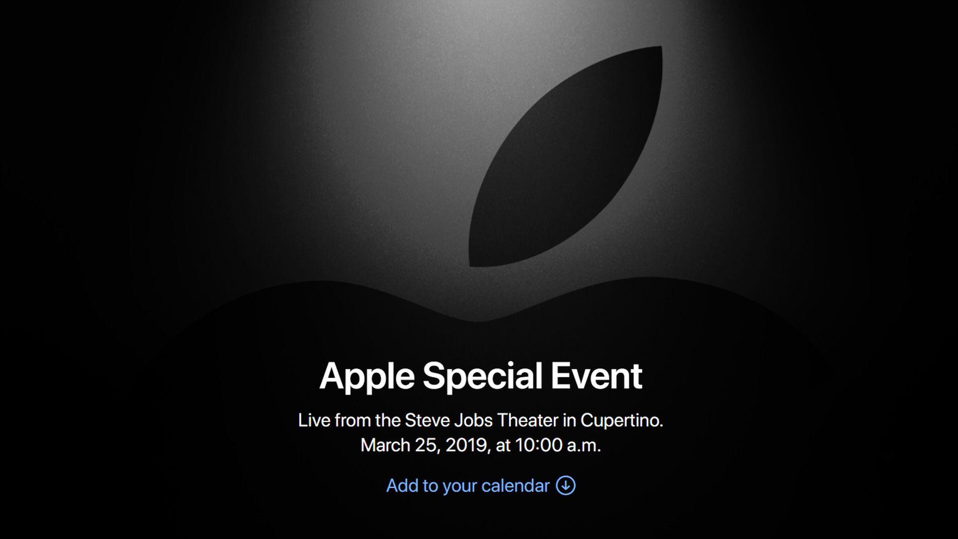 Oficjalnie konferencja Apple 25 marca