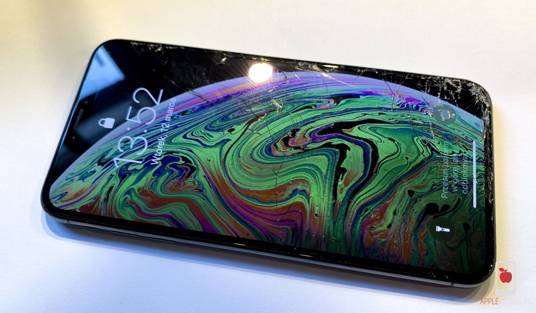 Wymian zbita szybka w iPhone X / XS / XS Max / Xr. Wymień ekran na oryginał OLED w APPLEMOBILE.PL